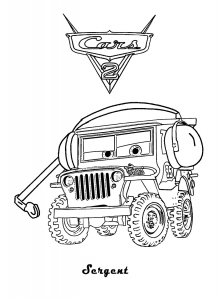 coloring pages cars movie characters - photo#25