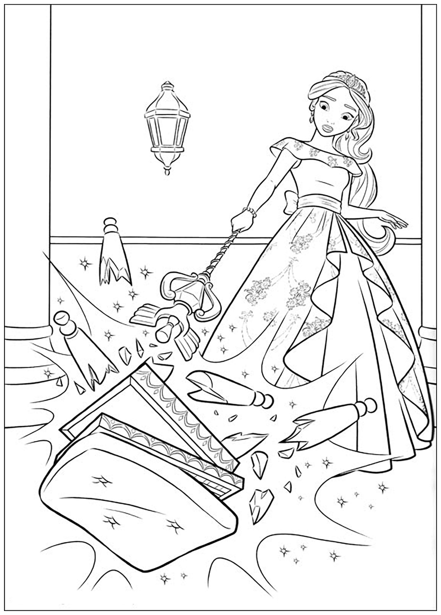 Elena avalor 42183 elena avalor coloring for kids for Elena of avalor coloring pages