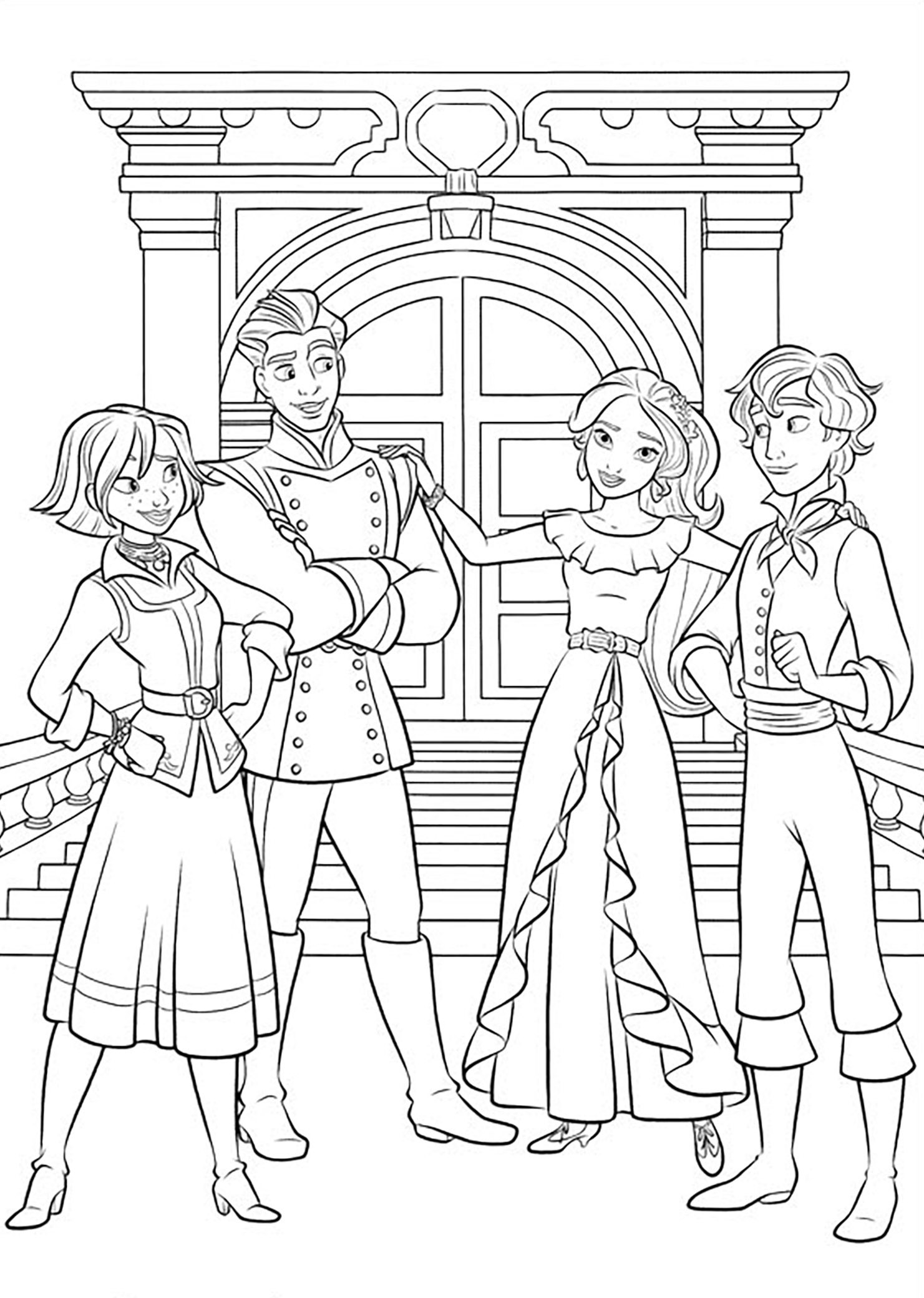 Elena avalor 91081 elena avalor coloring for kids for Elena of avalor coloring pages