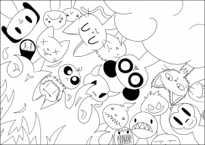 Coloriage Kawaii Coloring For Kids