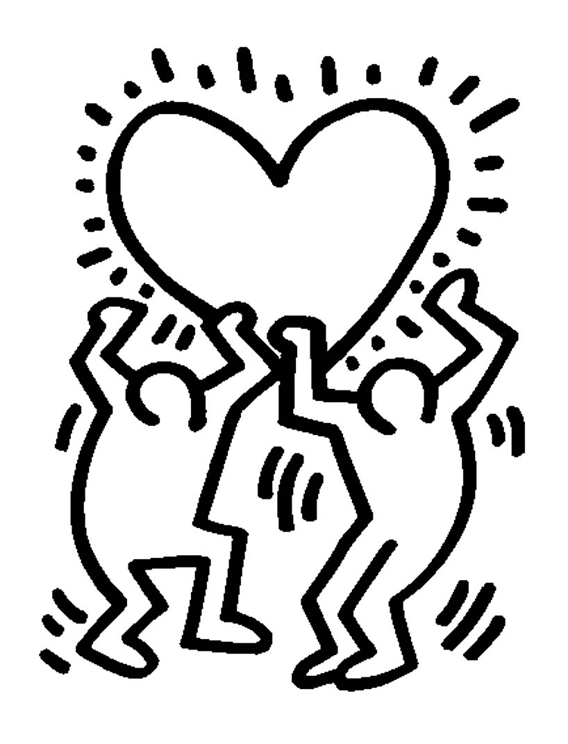 Keith haring 23860 | Keith Haring - Coloring for kids